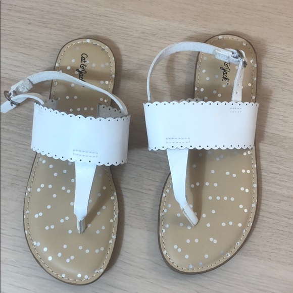 Jack Target Girls White Sandals Size